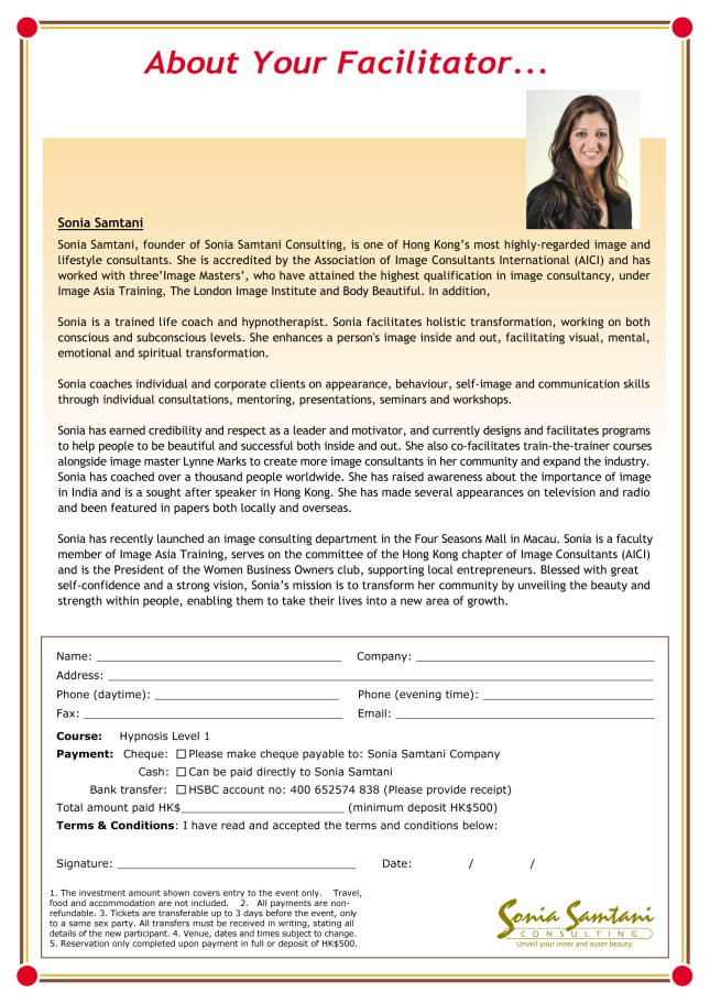 Sonias_hypnosis_course_booking_form